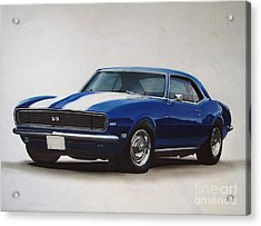 1969 Camaro Ss/rs Acrylic Print by Paul Kuras
