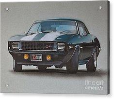 1969 Camaro Z28 Acrylic Print by Paul Kuras