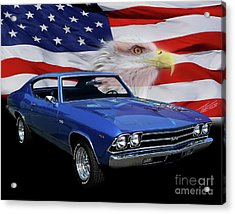 1969 Chevelle Tribute Acrylic Print by Peter Piatt