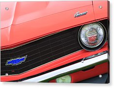 1969 Chevrolet Camaro Copo Replica Grille Emblems Acrylic Print by Jill Reger