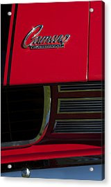 1969 Chevrolet Camaro Rally Sport Emblem Acrylic Print by Jill Reger