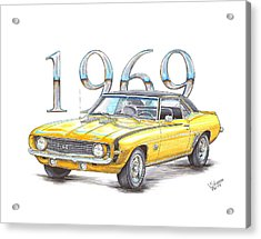 1969 Chevrolet Camaro Super Sport Acrylic Print by Shannon Watts