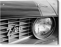 1969 Chevrolet Camaro Z-28 Grille Emblems Acrylic Print by Jill Reger