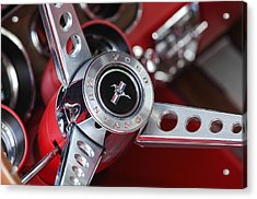 1969 Ford Mustang Mach 1 Steering Wheel Acrylic Print
