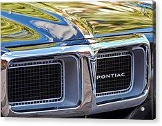 1969 Pontiac Firebird 400 Grille Acrylic Print by Jill Reger