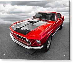 1969 Red 428 Mach 1 Cobra Jet Mustang Acrylic Print