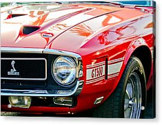 1969 Shelby Cobra Gt500 Front End - Grille Emblem Acrylic Print