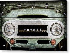 1969 Toyota Fj-40 Land Cruiser Grille Emblem -0444ac Acrylic Print by Jill Reger
