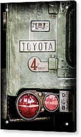 1969 Toyota Fj-40 Land Cruiser Taillight Emblem -0417ac Acrylic Print
