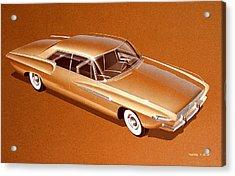 1970 Barracuda  Cuda Plymouth Vintage Styling Design Concept Sketch Acrylic Print by John Samsen