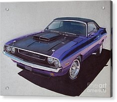 1970 Dodge Challenger Acrylic Print