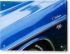 1970 Dodge Challenger Rt Convertible Emblems Acrylic Print by Jill Reger