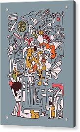 1970 John Rolling Stones Interview  Acrylic Print by Jos De La Paz