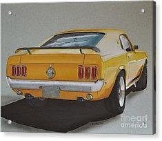1970 Mustang Fastback Acrylic Print by Paul Kuras