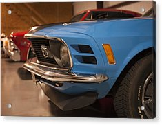 1970 Mustang Mach 1 And Other Classics Hidden In A Garage Acrylic Print