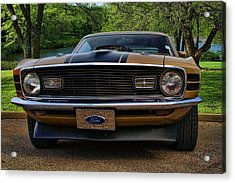 Acrylic Print featuring the photograph 1970 Mustang by Tim McCullough