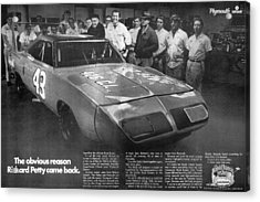 1970 Plymouth Superbird - The Obvious Reason Richard Petty Came Back Acrylic Print