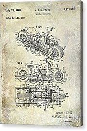 1970 Triumph Motorcycle Patent Drawing Acrylic Print