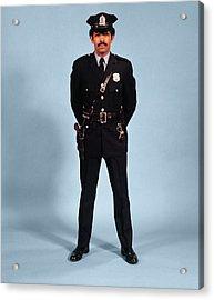1970s African American Man Police Acrylic Print
