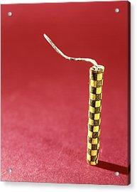 1970s Single Yellow Firecracker Fuse Acrylic Print