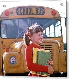 1970s Smiling Elementary School Girl Acrylic Print