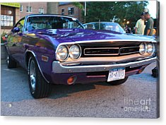 1971 Challenger Front And Side View Acrylic Print by John Telfer