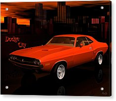 1971 Challenger Acrylic Print by John Pangia
