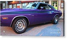 1971 Challenger Side View Acrylic Print by John Telfer