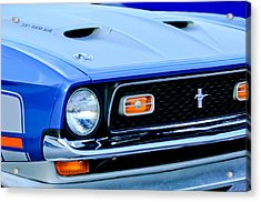 1971 Ford Mustang Boss 351 Cleveland Acrylic Print by Jill Reger