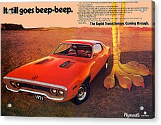 1971 Plymouth Road Runner Acrylic Print