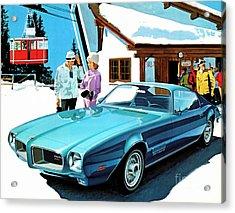1971 Pontiac Firebird Espirit Acrylic Print