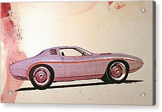 1972 Barracuda  J Cuda Vintage Styling Design Concept Sketch Acrylic Print by John Samsen