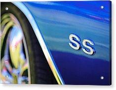 1972 Chevrolet Chevelle Ss Emblem Acrylic Print