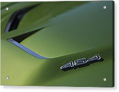 1972 Chevrolet Corvette Convertible Stingray 454 Hood Acrylic Print by Jill Reger
