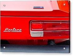1972 De Tomaso Pantera Taillight Emblem Acrylic Print