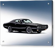 1972 Dodge Charger Acrylic Print by Gianfranco Weiss