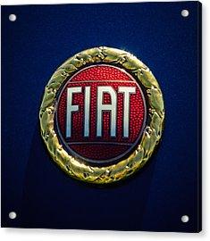 1972 Fiat Dino Spider Emblem Acrylic Print