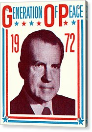 1972 Nixon Presidential Campaign Acrylic Print by Historic Image