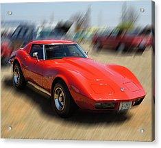Acrylic Print featuring the photograph 1973 Corvette by B Wayne Mullins