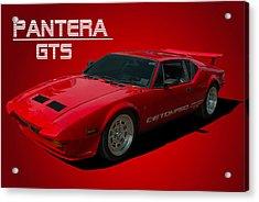 1973 Detomaso Pantera Gts Acrylic Print