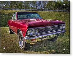 1976 Chevelle Ss 396 Acrylic Print by Debra and Dave Vanderlaan