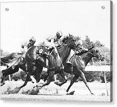 1976 Rockingham Park Vintage Horse Racing Acrylic Print
