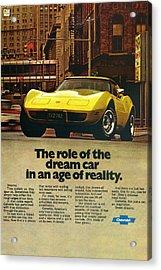 1977 Chevy Corvette Acrylic Print