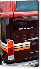 1978 Volkswagen Vw Champagne Edition Bus Taillight Emblem Acrylic Print by Jill Reger