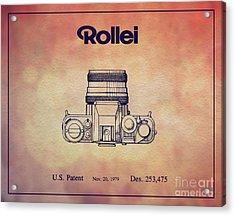 1979 Rollei Camera Patent Art 2 Acrylic Print