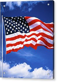 1980s American Flag Sky And Clouds Acrylic Print