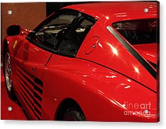 1986 Ferrari Testarossa - 5d20030 Acrylic Print by Wingsdomain Art and Photography
