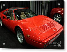1987 Ferrari 328 Gts - 5d19816 Acrylic Print by Wingsdomain Art and Photography