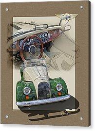 1987 Morgan Plus8 4.5 Litre Acrylic Print by Roger Beltz