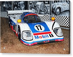 Acrylic Print featuring the painting 1989 Aston Martin Amr1/4 by Boris Mordukhayev